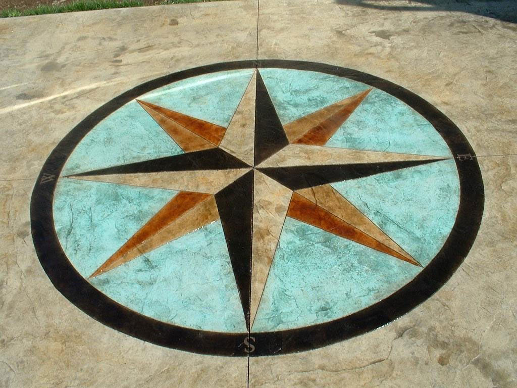 Moon Decorative Concrete Stamped Concrete Moon