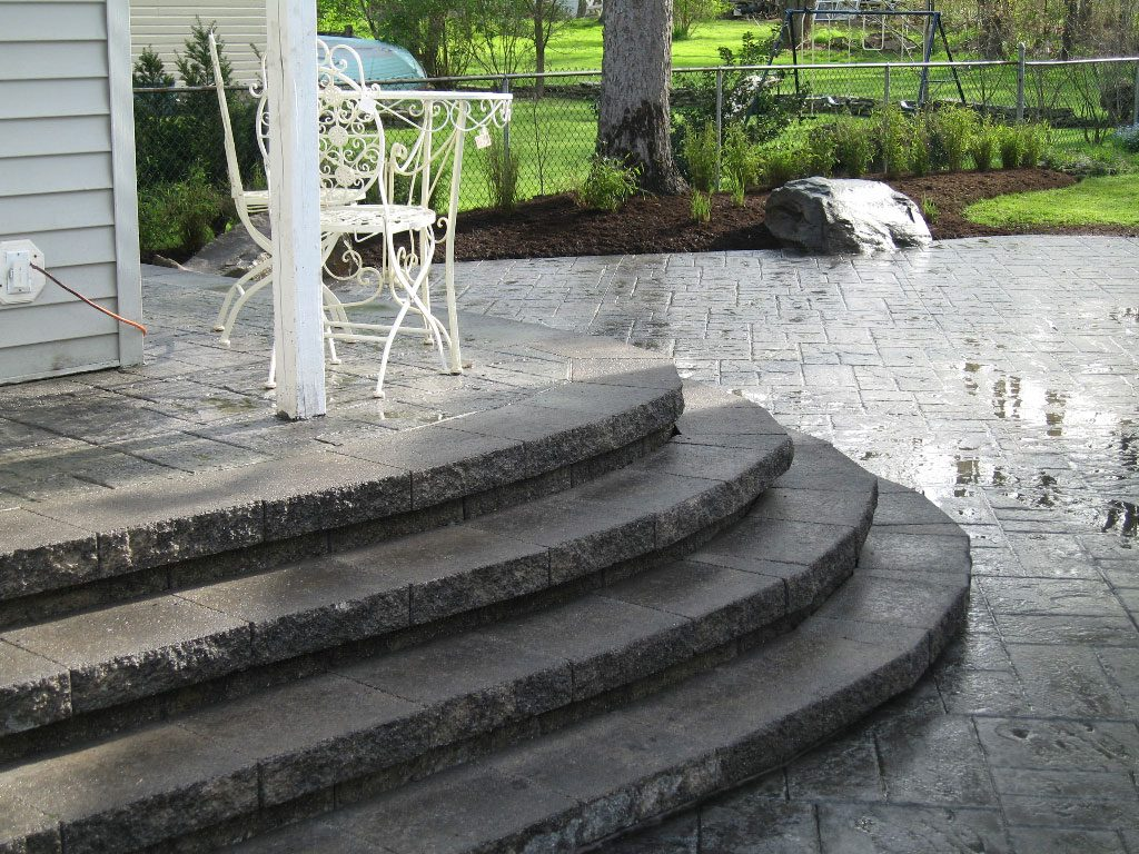 Moon Decorative Concrete Steps