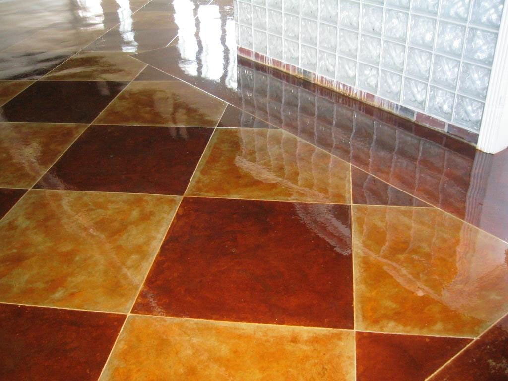 Moon Decorative Concrete Acid Stain Moon Decorative