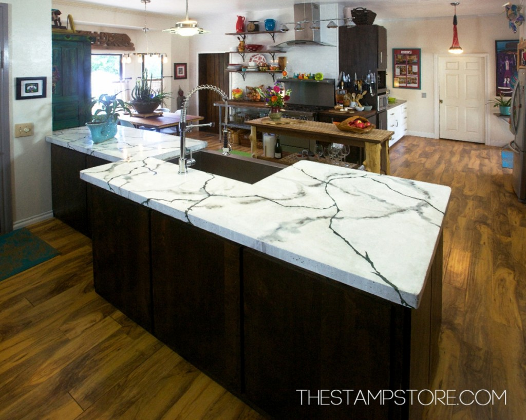 The Stamp Store's enCOUNTER Concrete Countertop Mix and Color