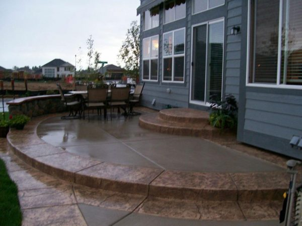 Stamped and Stained Concrete Patio