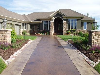 Recolor Old And Worn Stamped Concrete