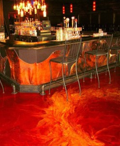 Moon Decorative Concrete Creating The Look Of Lava Flow Using A Metallic Epoxy Coating Moon Decorative Concrete