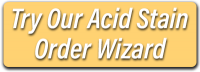Acid Stain Order Wizard